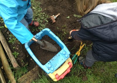 Digging and transporting