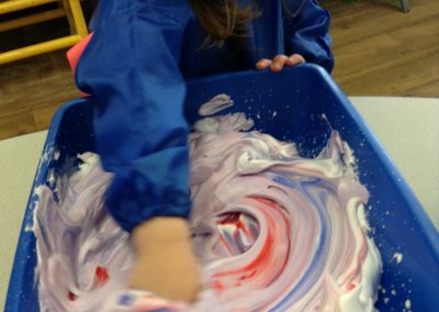 Mixing colours in plafoam